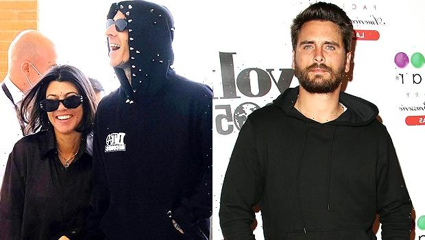 Kourtney Kardashian & Travis Barker Seemingly Respond To Scott Disick's Diss Of Their PDA