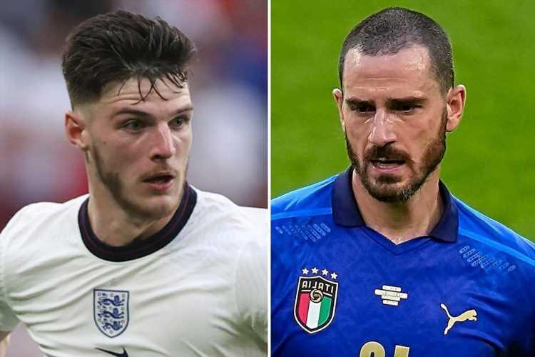 Leonardo Bonucci says Declan Rice's 'mistake' fired up 'humble' Italy before Euro 2020 final win vs England