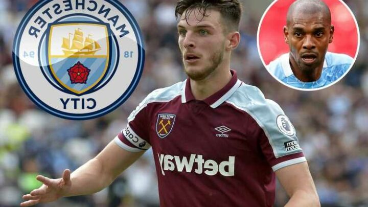 Man City ready to fight rivals Man Utd for £100million West Ham star Declan Rice as replacement for Fernandinho