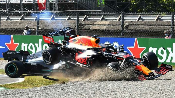 Max Verstappen handed three-place grid penalty for Russian GP after crashing into Lewis Hamilton at Monza