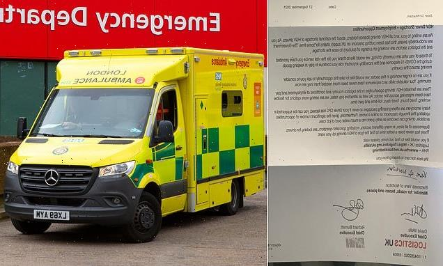 Ministers are asking PARAMEDICS to become HGV drivers