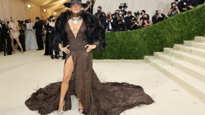 Of course JLo wore a cowboy hat to the Met Gala
