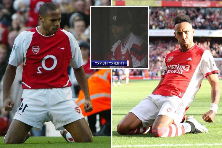 Pierre-Emerick Aubameyang copies iconic Thierry Henry celebration in front of Arsenal legend after goal versus Tottenham