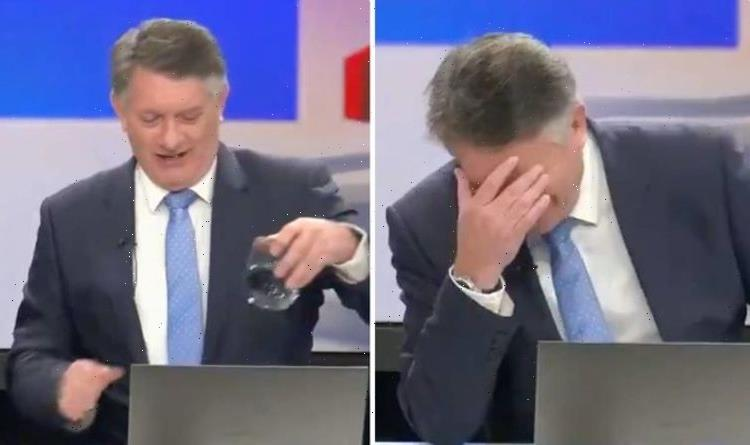 Simon McCoy left with head in hands over glaring GB News slip-up: 'Thought it was water'