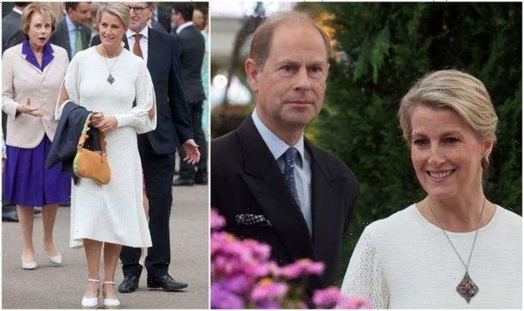 Sophie Wessex copies Kate Middleton's style in £890 cream dress at Chelsea Flower Show