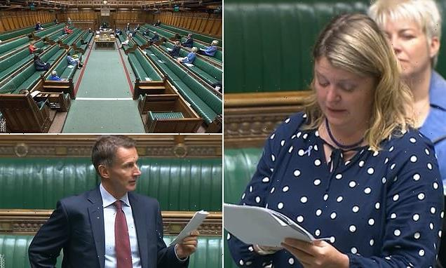 Tory MP breaks down in tears as she describes losing her baby