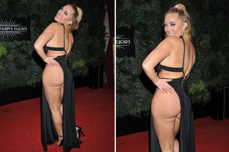 Aisleyne Horgan-Wallace shows off the results of her bum lift surgery in VERY revealing dress