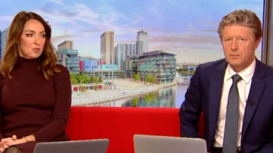 BBC Breakfast's Sally Nugent NOT impressed as Charlie Stayt admits 'I wasn't listening to you' live on air