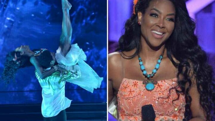 DWTS' Kenya Moore 'sure she broke ribs' but RHOA star 'danced through injury' after bad lift with Brandon Armstrong