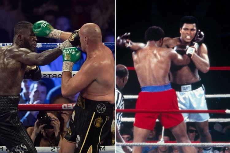 Deontay Wilder helped by George Foreman after Tyson Fury loss who 'knew how he felt after Ali' humbling – The Sun