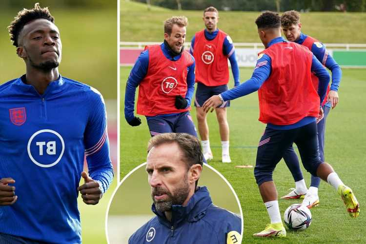 England stars train at St George's Park ahead of World Cup qualifying double-header against Andorra and Hungary