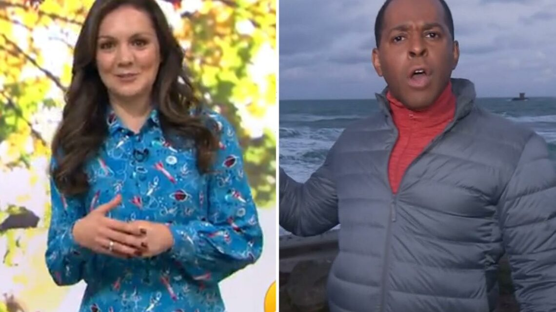 GMB's Laura Tobin and Andi Peters in tense clash as she awkwardly calls him out for cringe geography blunder