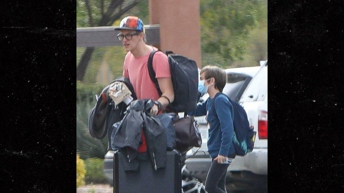 Halyna Hutchins' Husband and Son Spotted at Santa Fe Hotel