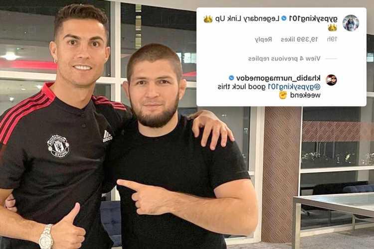 Khabib Nurmagomedov wishes Tyson Fury 'good luck' ahead of Deontay Wilder fight as UFC legend meets Cristiano Ronaldo