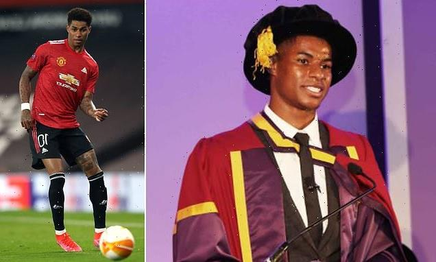 Marcus Rashford says it was 'bittersweet' to collect honorary degree
