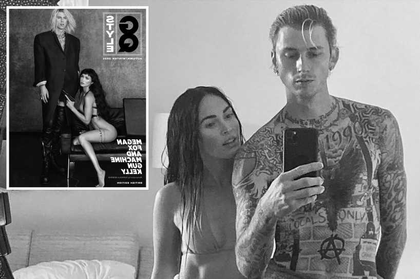 Megan Fox and Machine Gun Kelly give each other tattoos for GQ Style