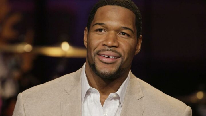 Michael Strahan's reaction is priceless as he celebrates happy news with co-star