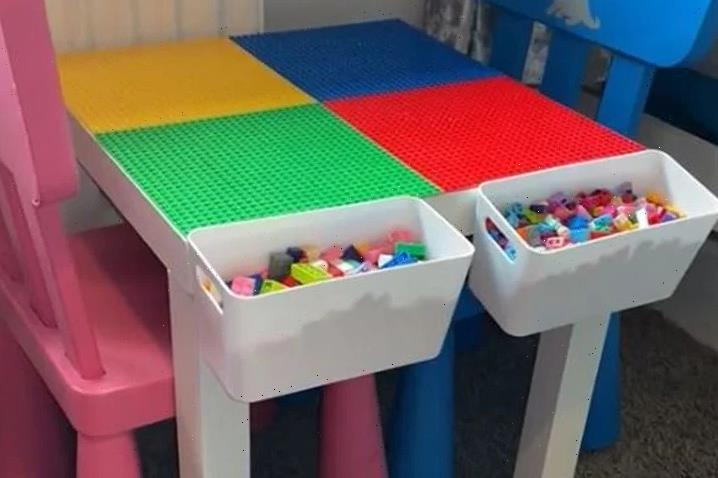 Mum makes a Lego table for less than £20 using Ikea and Wilko bargains and it looks amazing