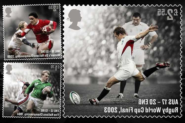 Royal Mail issues set of stamps to celebrate the 150th anniversary of the formation of the Rugby Football Union