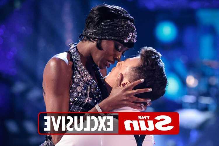 Strictly favourite AJ Odudu 'is falling for dance partner Kai Widdrington'
