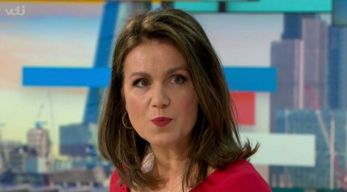 Susanna Reid apologises to Good Morning Britain guest after 'sexist' error