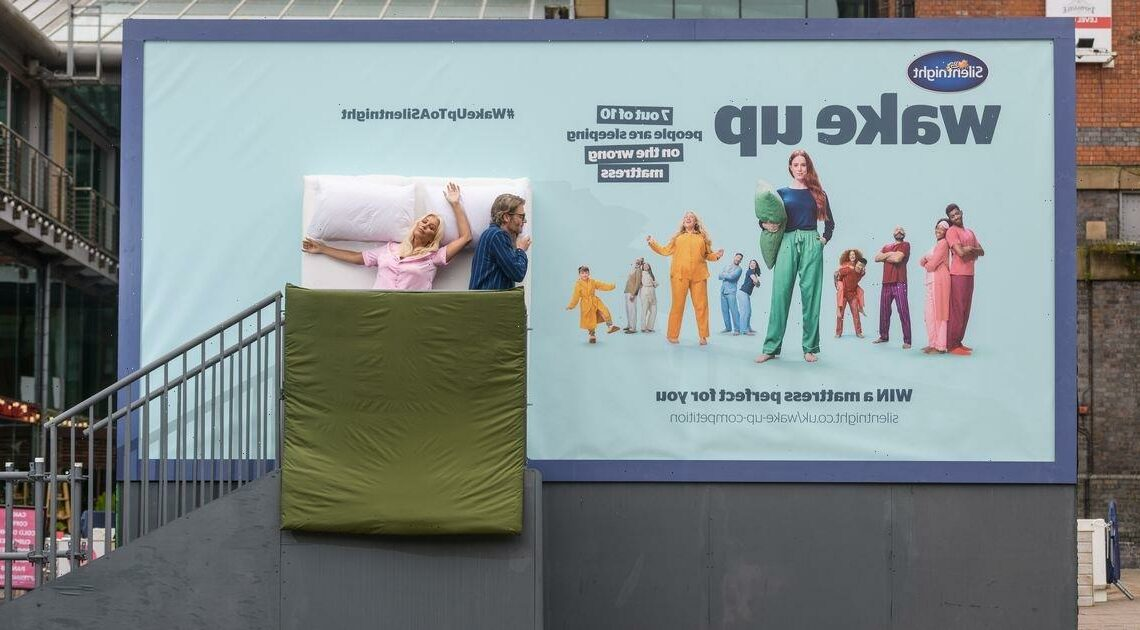 TV icon Denise van Outen wakes up in unusual spot – in the middle of a BILLBOARD