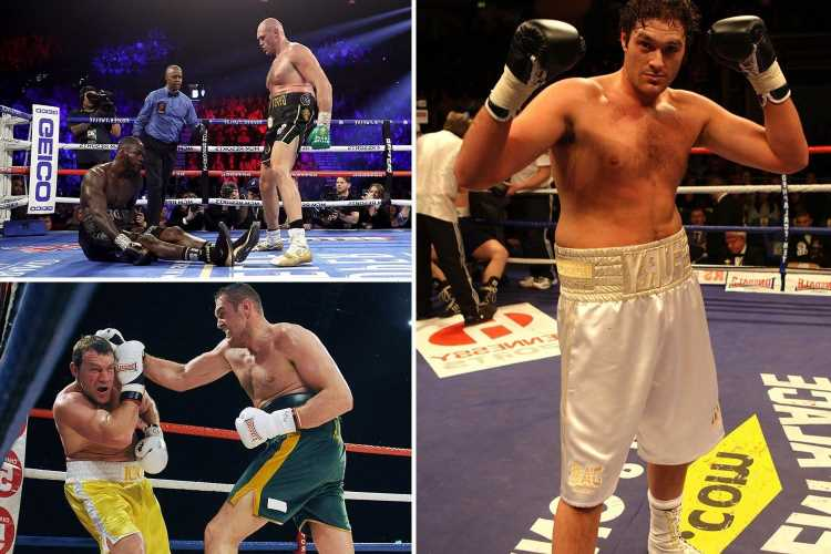 Tyson Fury's top five knockouts during unbeaten career from smashing Deontay Wilder to crushing Steve Cunningham