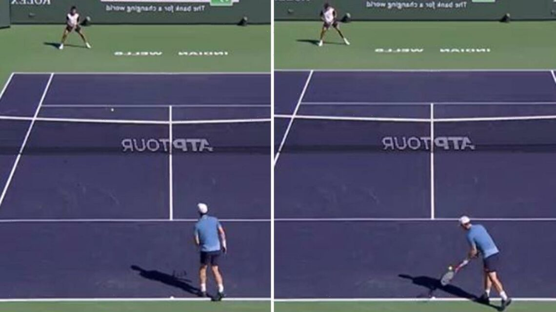 Watch Andy Murray hit underarm ACE serve against Carlos Alcaraz Garfia, 18, at Indian Wells.. but fans question tactic