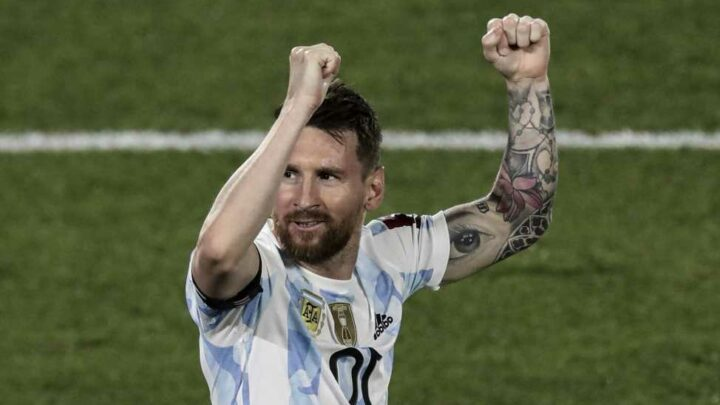 Watch Lionel Messi score most bizarre goal of his ENTIRE international career for Argentina after long-ball pass